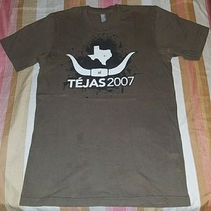 Brown TEJAS AMERICAN APPAREL t-shirt